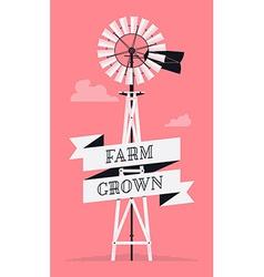 Farm windmill vector