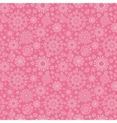 Folk pink floral circles texture abstract seamless vector image