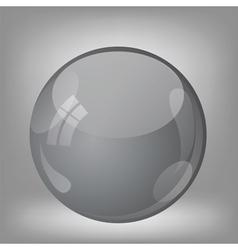 grey sphere vector image vector image