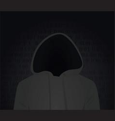 Hacker silhouette vector