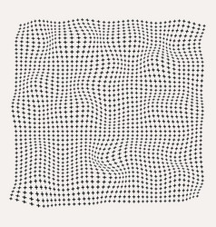 Halftone waves plus symbol pattern on old white vector