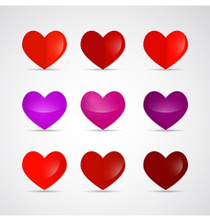 Hearts Isolated on Grey Background vector image vector image
