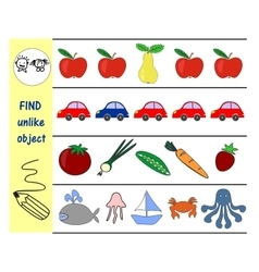 Homework for kids how to find an extra subject vector image vector image