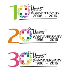 Hospital anniversary colorful symbol vector