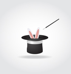 Magic hat with rabbit vector