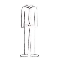 male clothes with shirt and tie and pant and shoes vector image