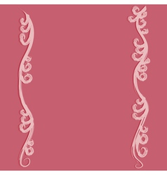 Pink flourish curves vector image vector image