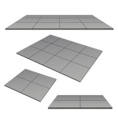 Platform pedestal tiles vector