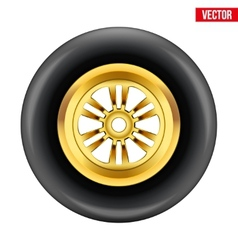 race wheel and tire symbol vector image
