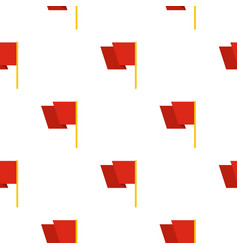 Red flag pattern seamless vector