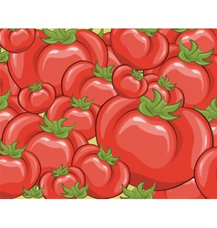 Red tomatoes background vector