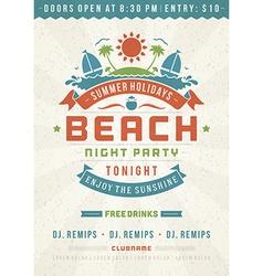 Retro beach poster design vector image