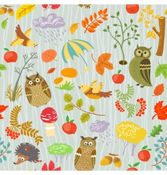 seamless with owls vector image vector image