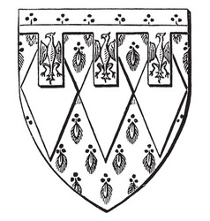 Shield of sir edward de montague is a escutcheon vector