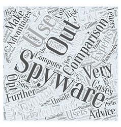 Spyware comparison word cloud concept vector