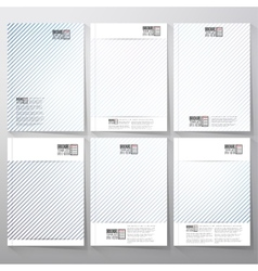 Striped blue background brochure flyer or vector