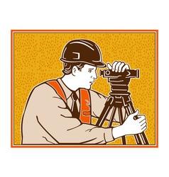 Surveyor geodetic civil engineer retro vector