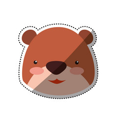 Teddy bear cartoon infantile head vector