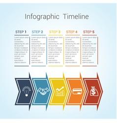 timeline arrows 5 vector image vector image