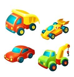 Transport toys set vector image vector image