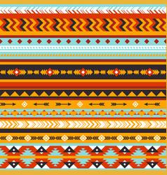 Tribal seamless pattern aztec geometric vector