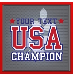 Usa champion badge vector
