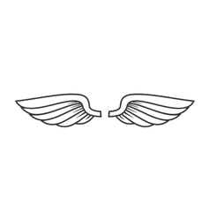 White Angel Wings Icon vector image