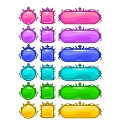 Cartoon colorful buttons vector