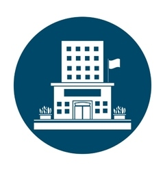 building silhouette icon image vector image