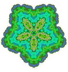 Indian ornament kaleidoscopic pattern mandala vector