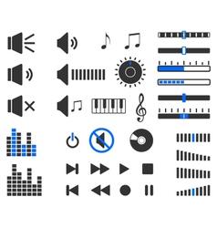 Sound elements vector