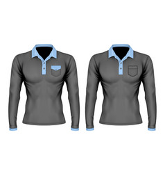 polo shirt with pocket vector image