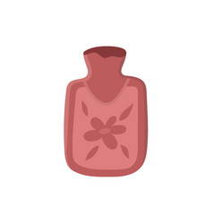 Hot water bottle flat isolated vector