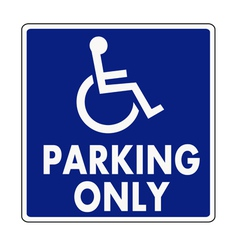 Handicapped parking sign vector