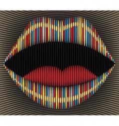 lip stripes vector image