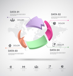 Infographic 3d data vector