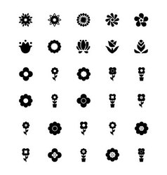 Flowers or floral icons 2 vector