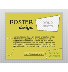Summer yellow stylish poster invitation template vector