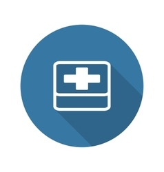 First aid symbol flat design long shadow vector