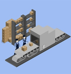 Goods warehouse vector
