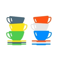 Red cup coffee tea or drink cafe morning beverage vector