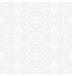 Seamless floral paisley wallpaper in white and vector