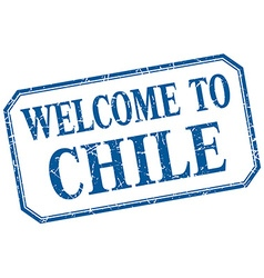 Chile - welcome blue vintage isolated label vector