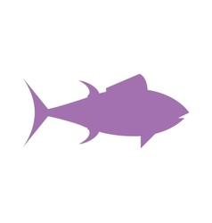Tuna fish cartoon animals flat silhouette vector
