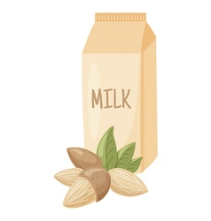 Almond milk vector