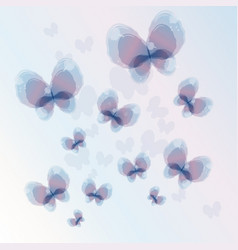 Abstract watercolor butterfly design element vector