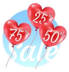 balloons hearts sale vector image