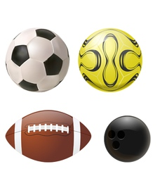 balls set vector image