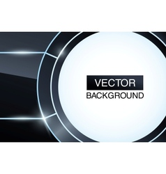 Black glossy abstract background Futuristic vector image vector image