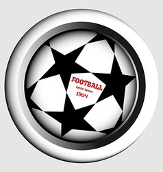 Champions league ball with starts vector image